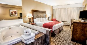 King room with jacuzzi in room grand oaks hotel branson mo