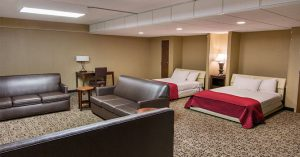 Hotel suite at Grand Oaks Hotel
