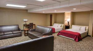 Double queen suite at grand oaks hotel in branson missouri