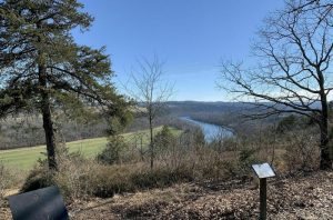 View from Stonewall Trail at the Lakeside Forest Wilderness Area hiking trails.
